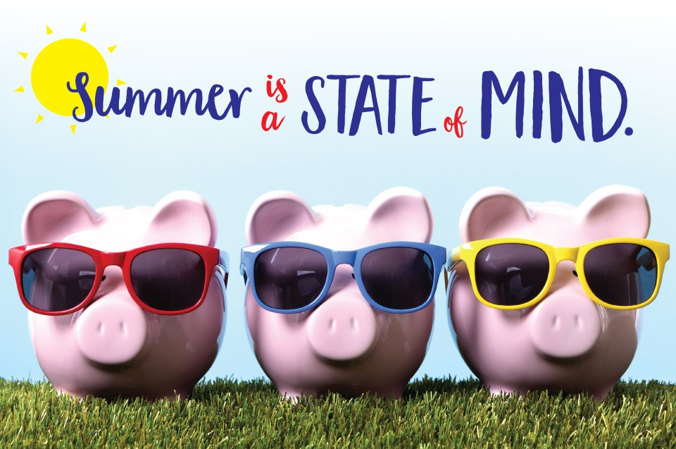 3 Pigs with Sunglasses, Summer State of Mind